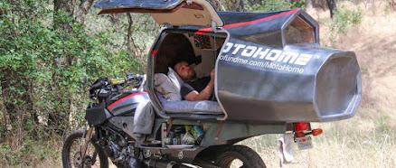 Wohnmobil auf Motorrad Basis - der Motorrad Camper