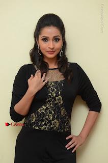 Telugu Actress Manasa Manohar Stills in Black Long Dress at Naku Nene Thopu Turumu Trailer Launch  0054.JPG