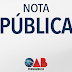 Nota Pública - Sobre o assassinato da vereadora Marielle Franco e do motorista Anderson Gomes