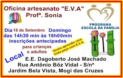 Oficina artes EVA gratuito