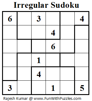 Irregular Sudoku (Mini Sudoku Series #19)-Fun With Puzzles