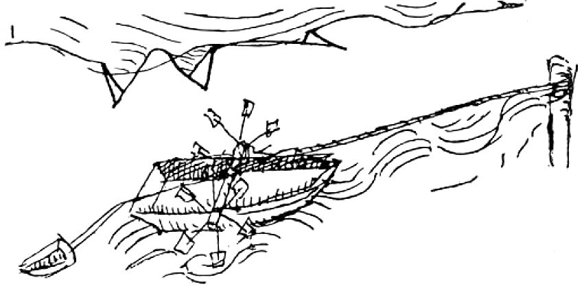 Jacopo Mariano's concept of ship haulage.