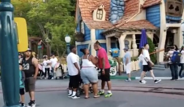 Disneyland Toontown Brawl Caught On Camera: Video