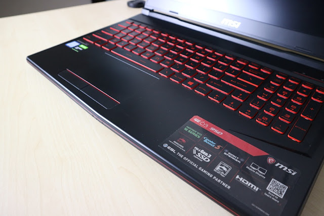 msi gl63 9sd review steelseries keyboard