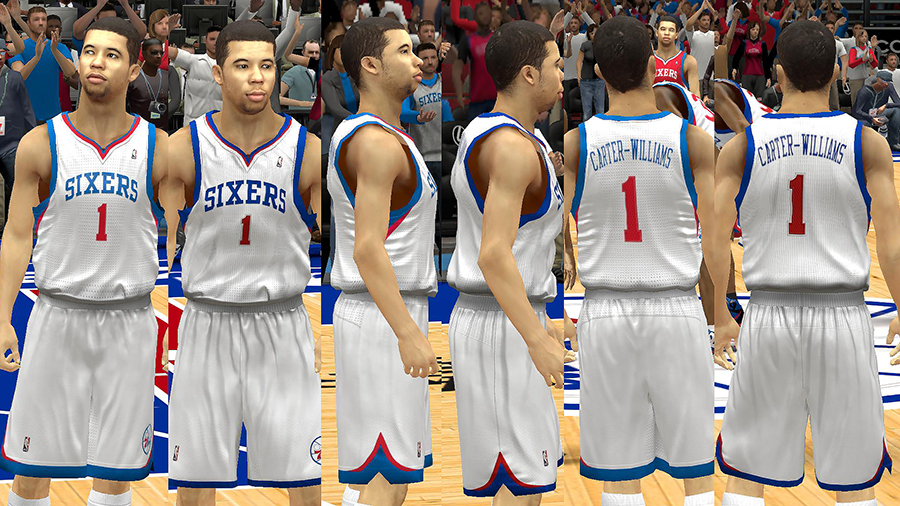 Sixers Home Jersey Patch NBA 2K14