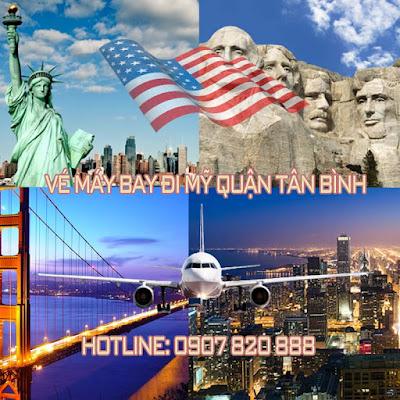 Vé máy bay đi Mỹ quận Tân Bình