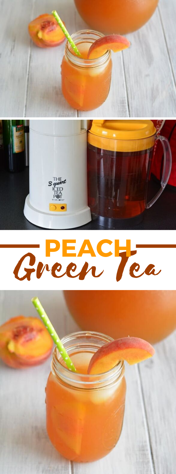 HOMEMADE PEACH GREEN TEA #drinks #summerdrink