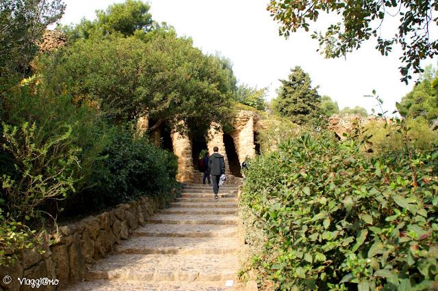 Area gratuita del Park Guell di Gaudì