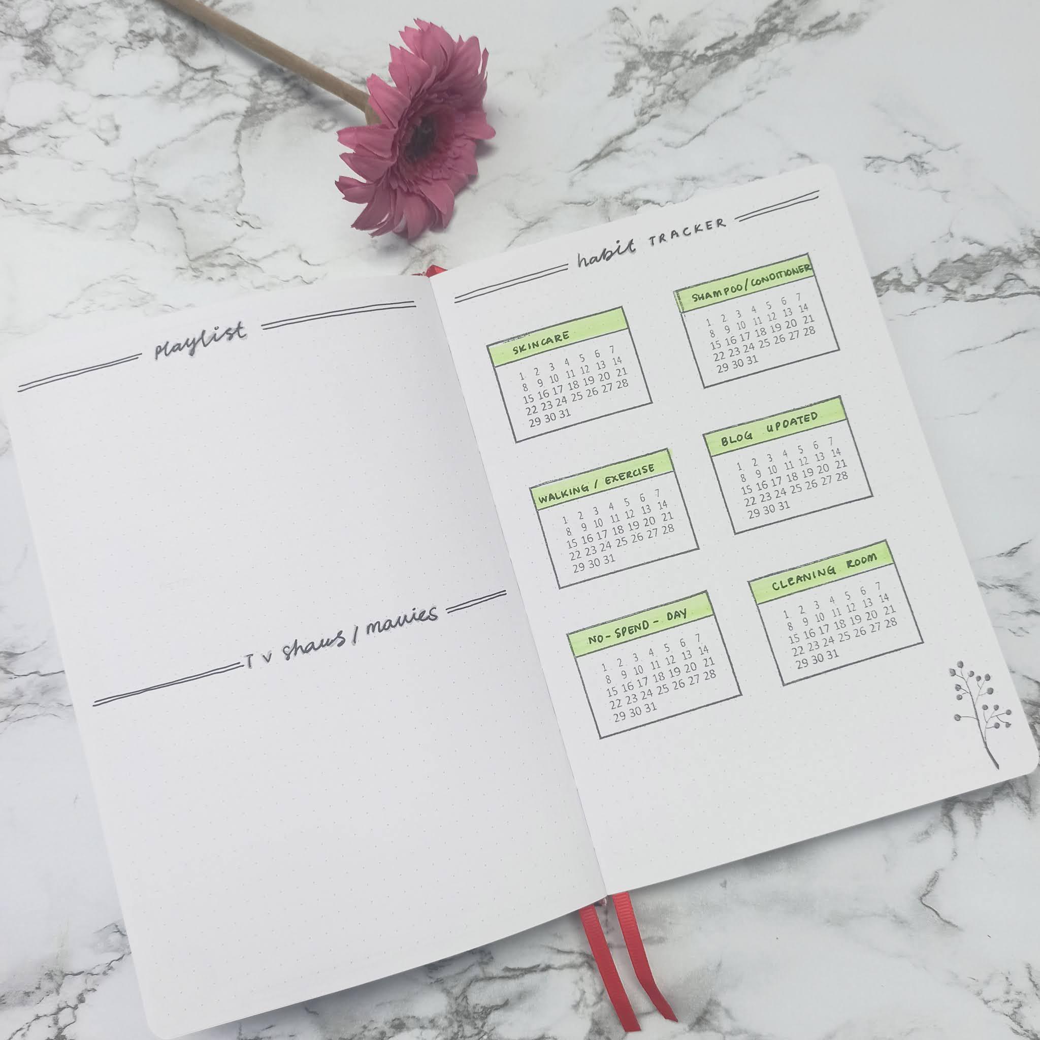 My 2021 Bullet Journal + January Setup