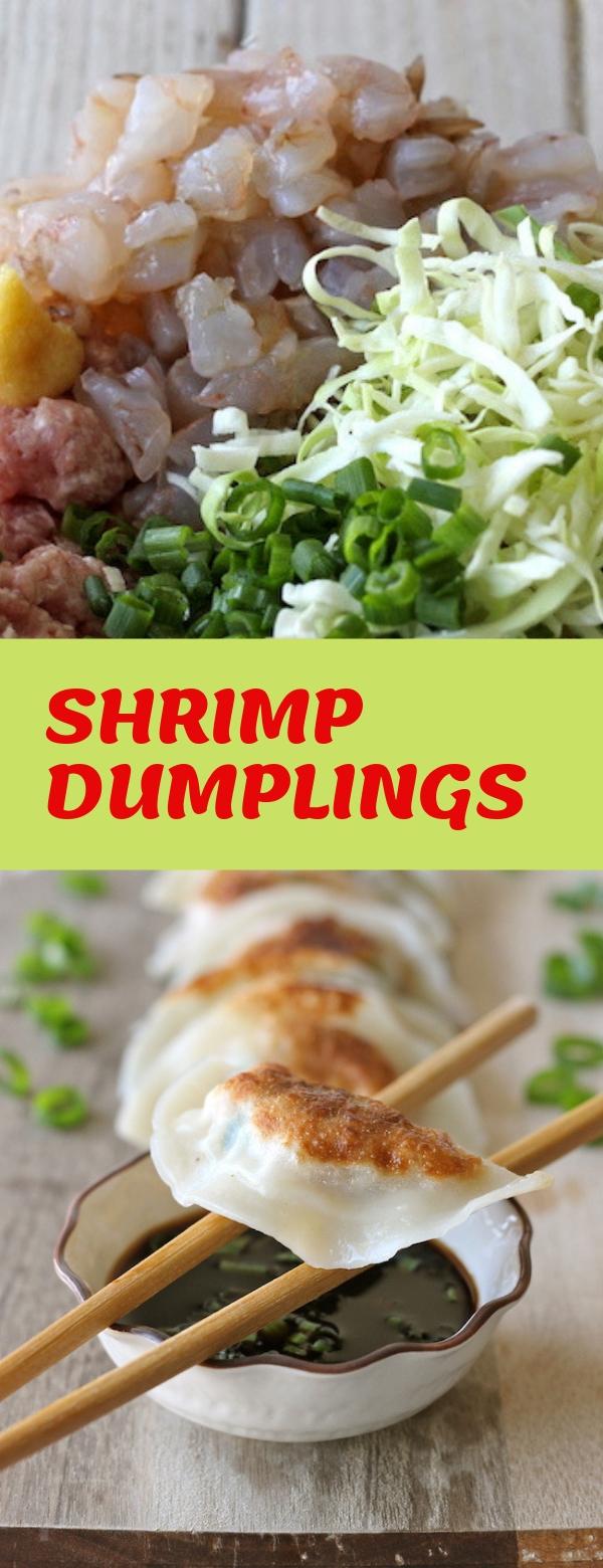 SHRIMP DUMPLINGS #HOMEMADE #DINNER