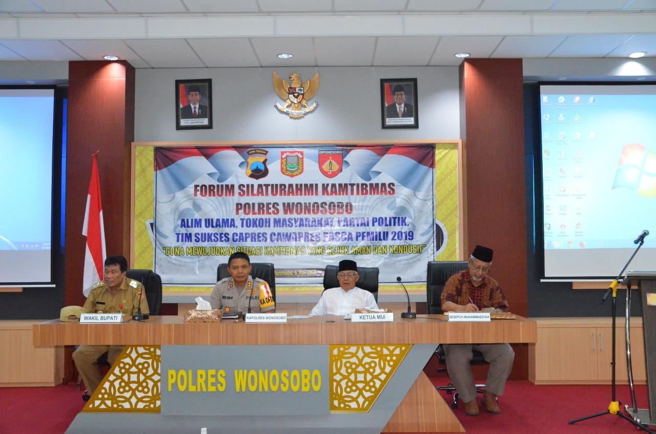 Silaturahmi Kamtibmas Polres Wonosobo Ajak Sudahi Keterbelahan