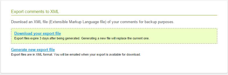 export intensedebate comments xml disqus