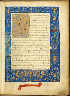 Une page enluminée du manuscrit du Livre des Fontaines
