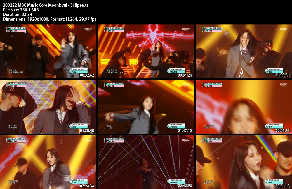 Music Core , Moonbyul , Eclipse, 1080p , Kpop, 2020