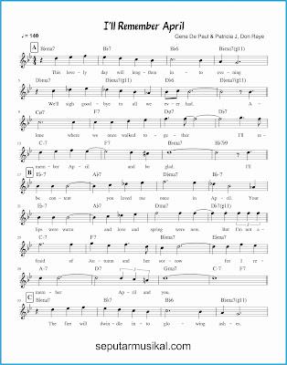 i'll remember april 1 lagu jazz standar