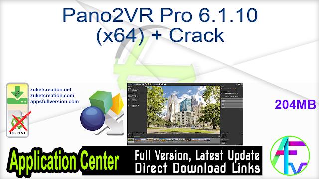 Pano2VR Pro 6.1.10 (x64) + Crack