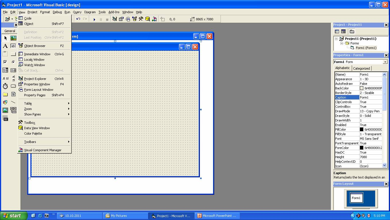 Visual Basic 6 0 Tutorials Code Amp Project For Beginners View Menu Of Visual Basic 6 0