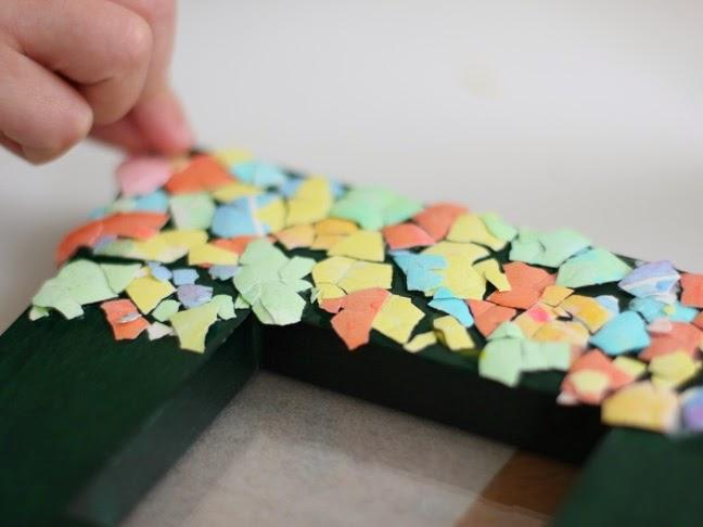 Arts Crafts Ideas Movement Eggshell Mosaic Frame A Handmade Gift