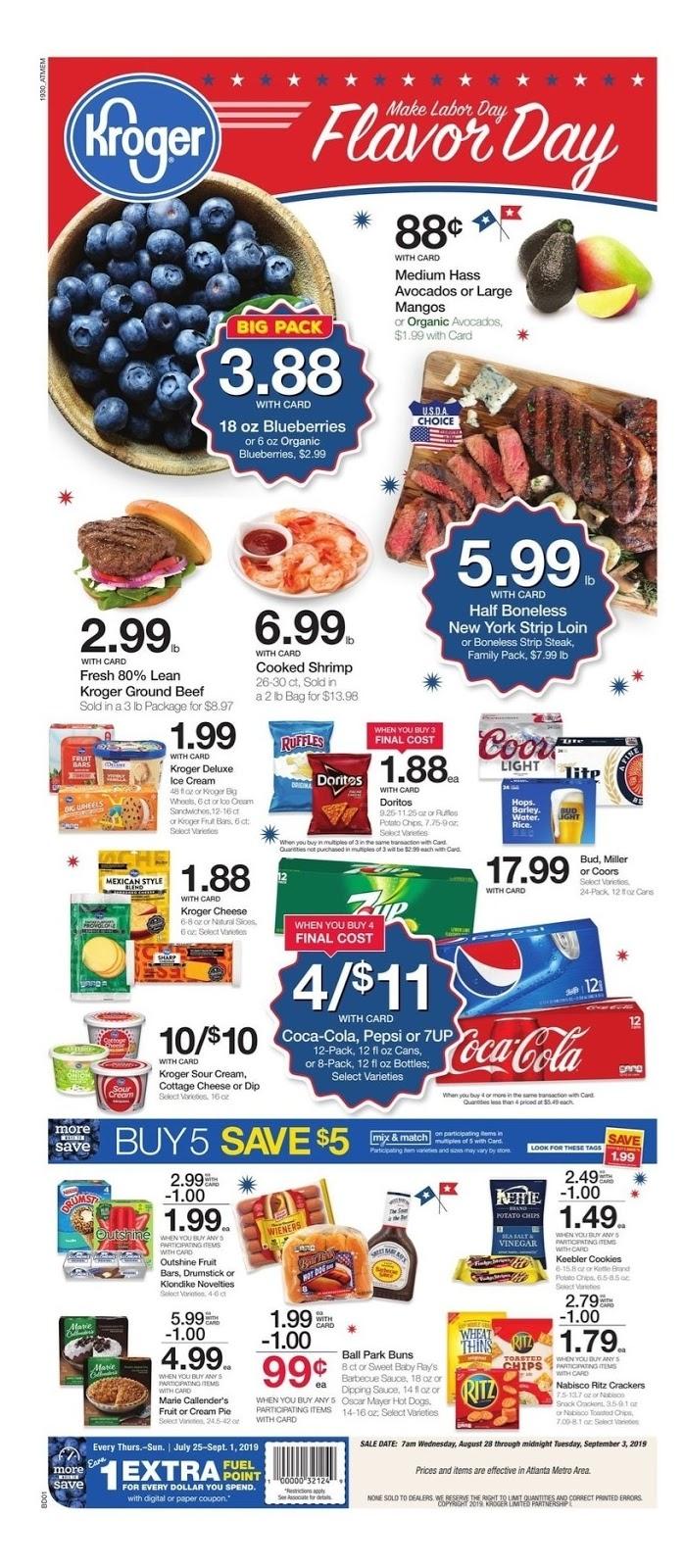 Kroger Weekly Ad August 28 - September 3, 2019