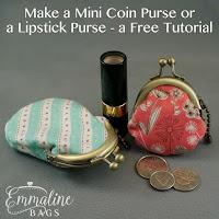 Free Mini Coin Purse Tutorial by Emmaline Bags