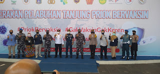 Komunitas Pelabuan Tanjung Priok Deklarasikan Pelabuhan Bervaksin