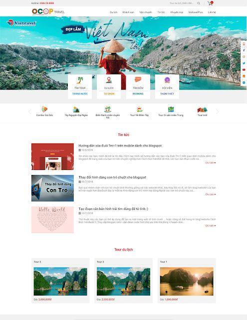 Chia sẻ theme review du lịch, bán tour cực đẹp cho blogger 2