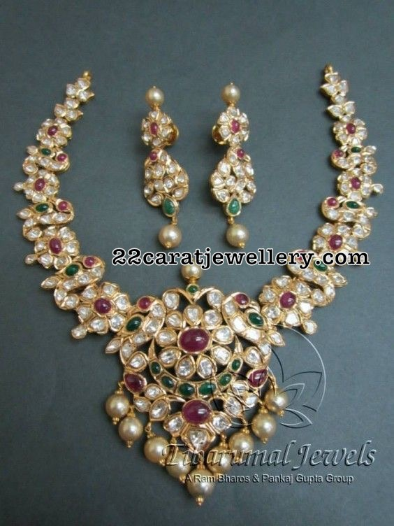 Peacock Pachi Set by Tibarumal jewels