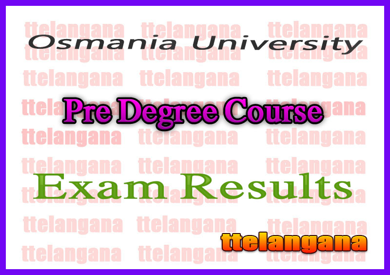 Osmania University Pre Degree Course Results