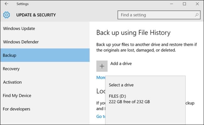 backup files windows 10