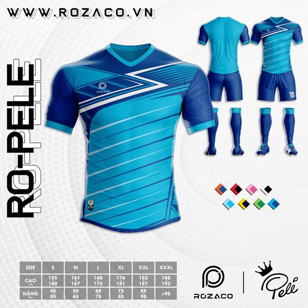 Áo Không Logo Rozaco RO-PELE Màu Xanh Bích