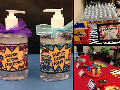 Teacher Appreciation Week Gifts and Popcorn Bar