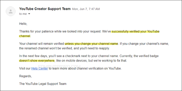 كيفية توثيق قناة اليوتيوب والحصول على علامة التحقق 2021
