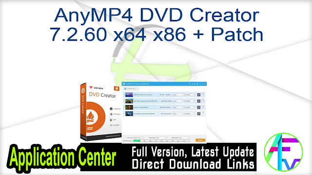 AnyMP4 DVD Creator 7.2.60 x64 + Patch