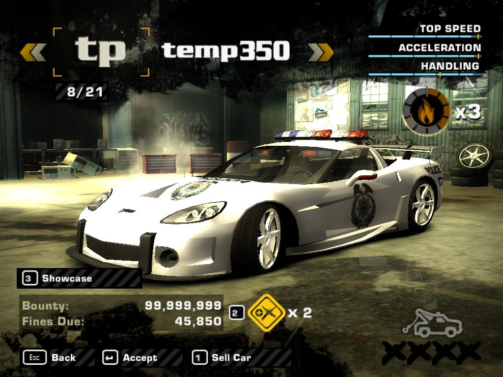 Nfs most wanted 100 save file with all cars