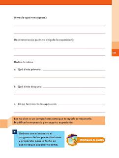 Apoyo Primaria Español 2do grado Bloque 2 lección 20 Para buscar respuestas