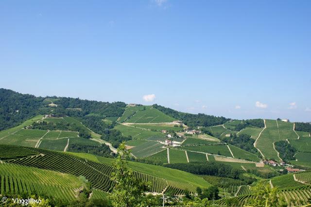 Bel Panorama sulle colline delle Langhe da Serralunga