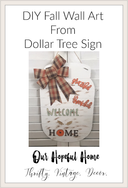 DIY Fall Wall Art From Dollar Tree Sign