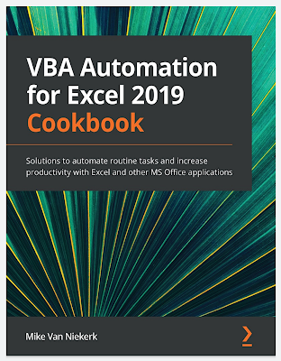 VBA Automation for Excel 2019 Cookbook