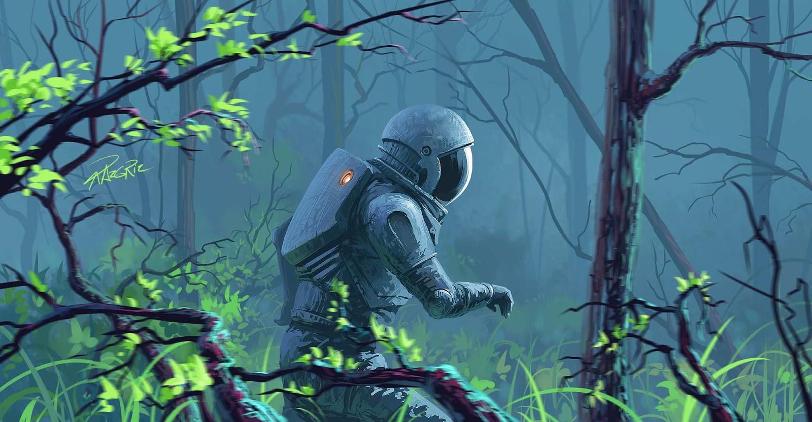 Astronaut by Roman Avseenko