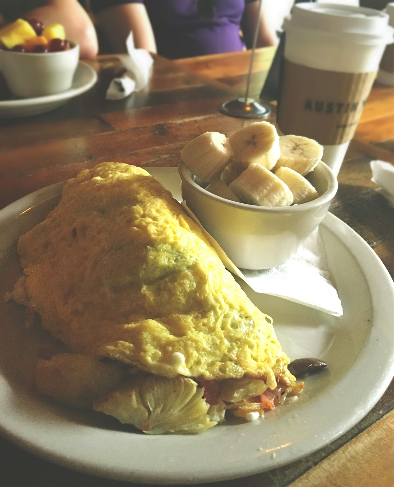 Greek Omelette at Austin Java - a coffee shop/restaurant in Austin, Texas