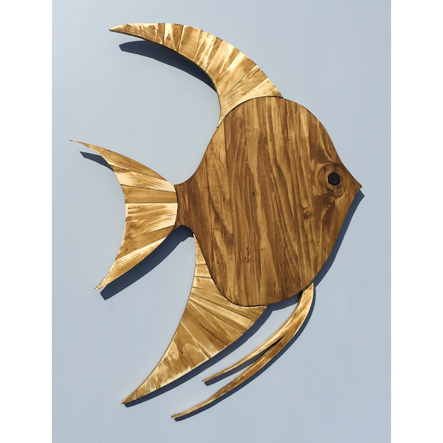 Wooden-Wall Art-Angel-Fish-by-IDB