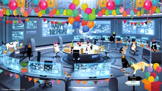 Basil's Birthday in the bunker @BionicBasil® 2019