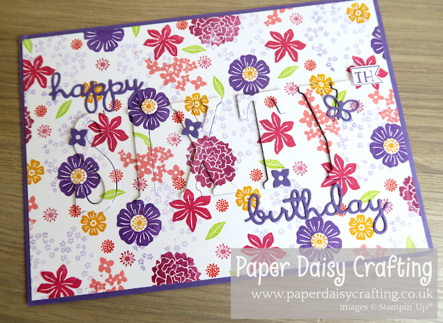 Beautiful bouquet eclipse card Stampin Up