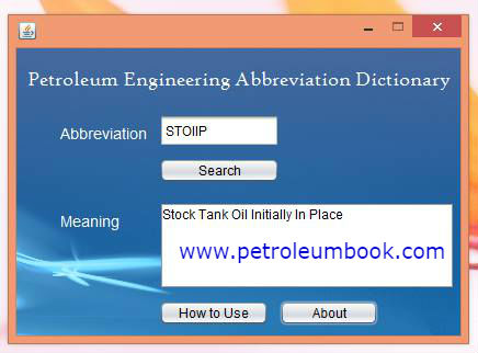 petroleum engineering abbreviation