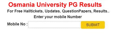Osmania University PG Results