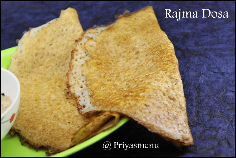 Diet friendly rajma dosa
