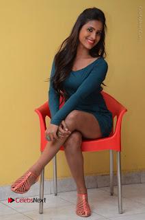 Telugu Actress Prasanthi Stills in Green Short Dress at Swachh Hyderabad Cricket Press Meet  0079.JPG