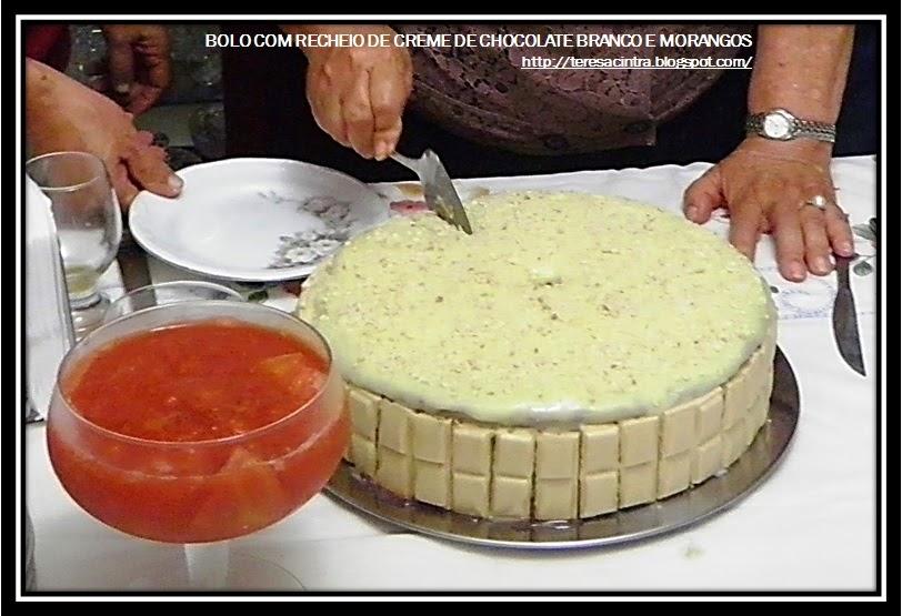 CHOCOLATE BRANCO E MORANGOS