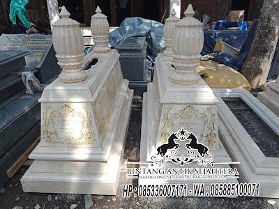 Contoh Makam Batu Alam, Makam Marmer Khas Tulungagung, Model Kijing Marmer