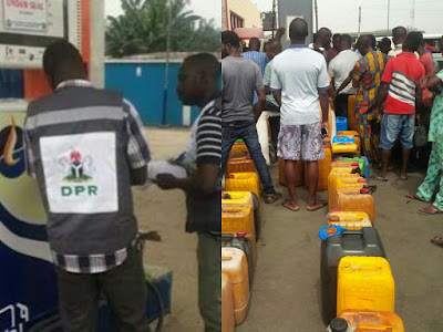DPR and queue at the filling station